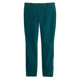 NWT J.Crew Minnie Pant Willoughby Pine 8 $89